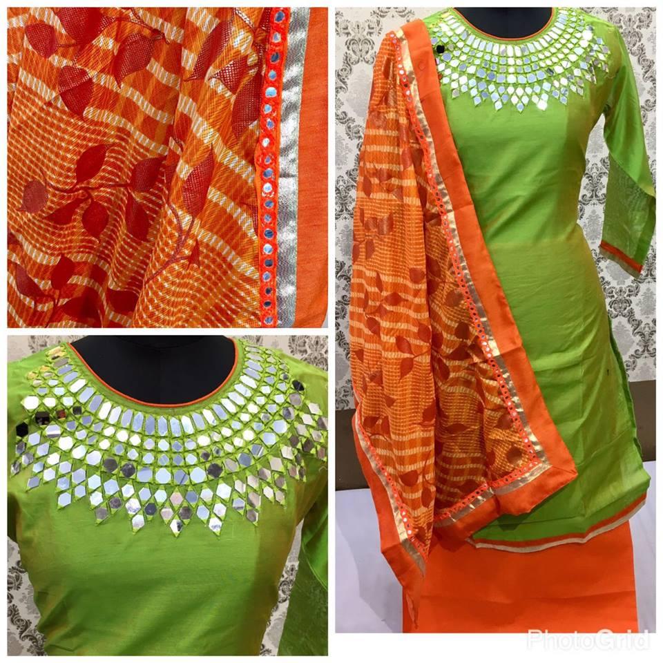 Women's Cotton Printed Unstitched Regular Wear Salwar Suit Dress Material