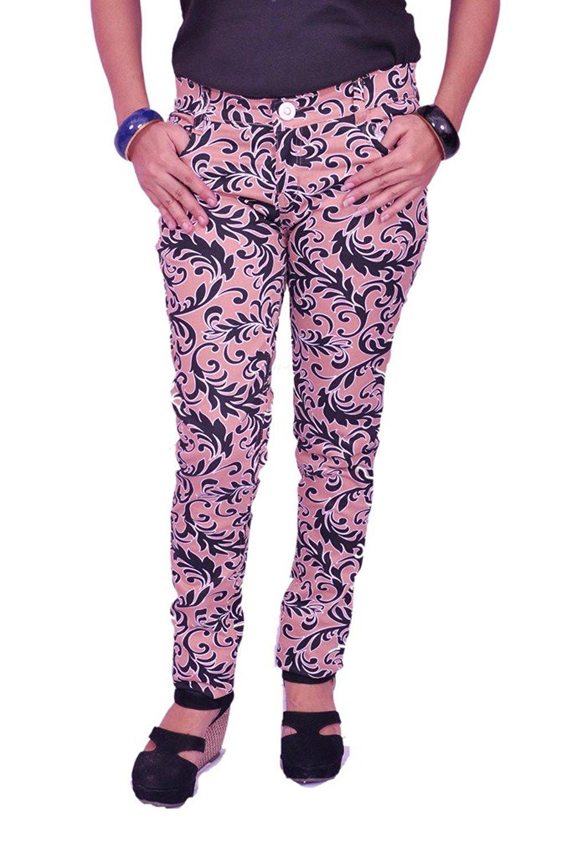 Woman Fashion Printed Jeggings