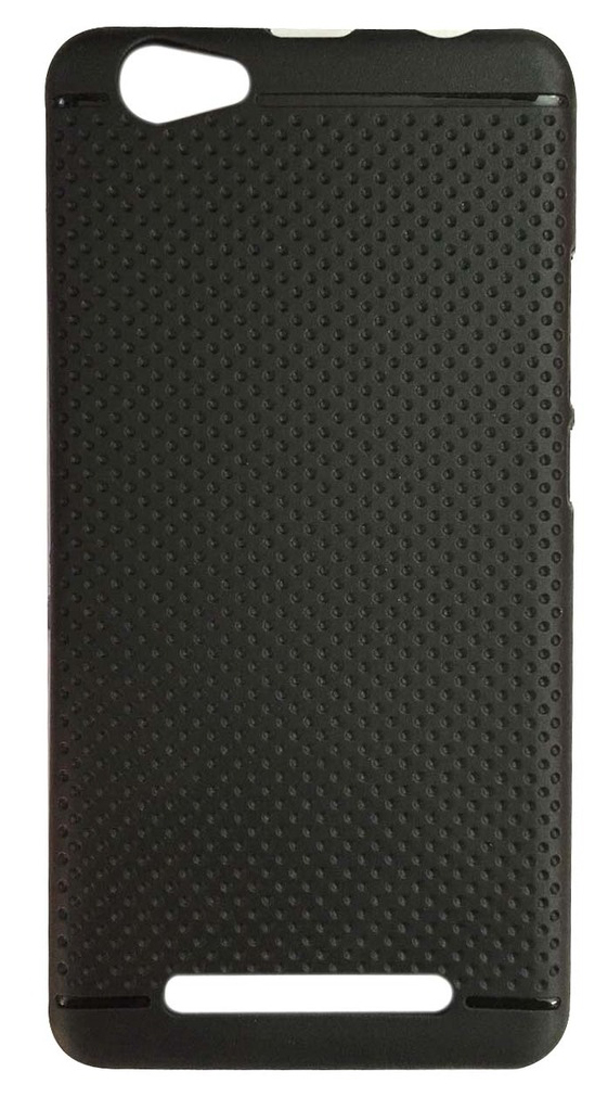 DKM Inc Soft Black Dotted Back Cover for Redmi MIMax
