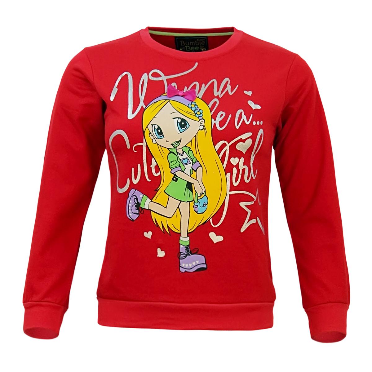 Kothari Girls Full Sleeve Fleece sweatshirt