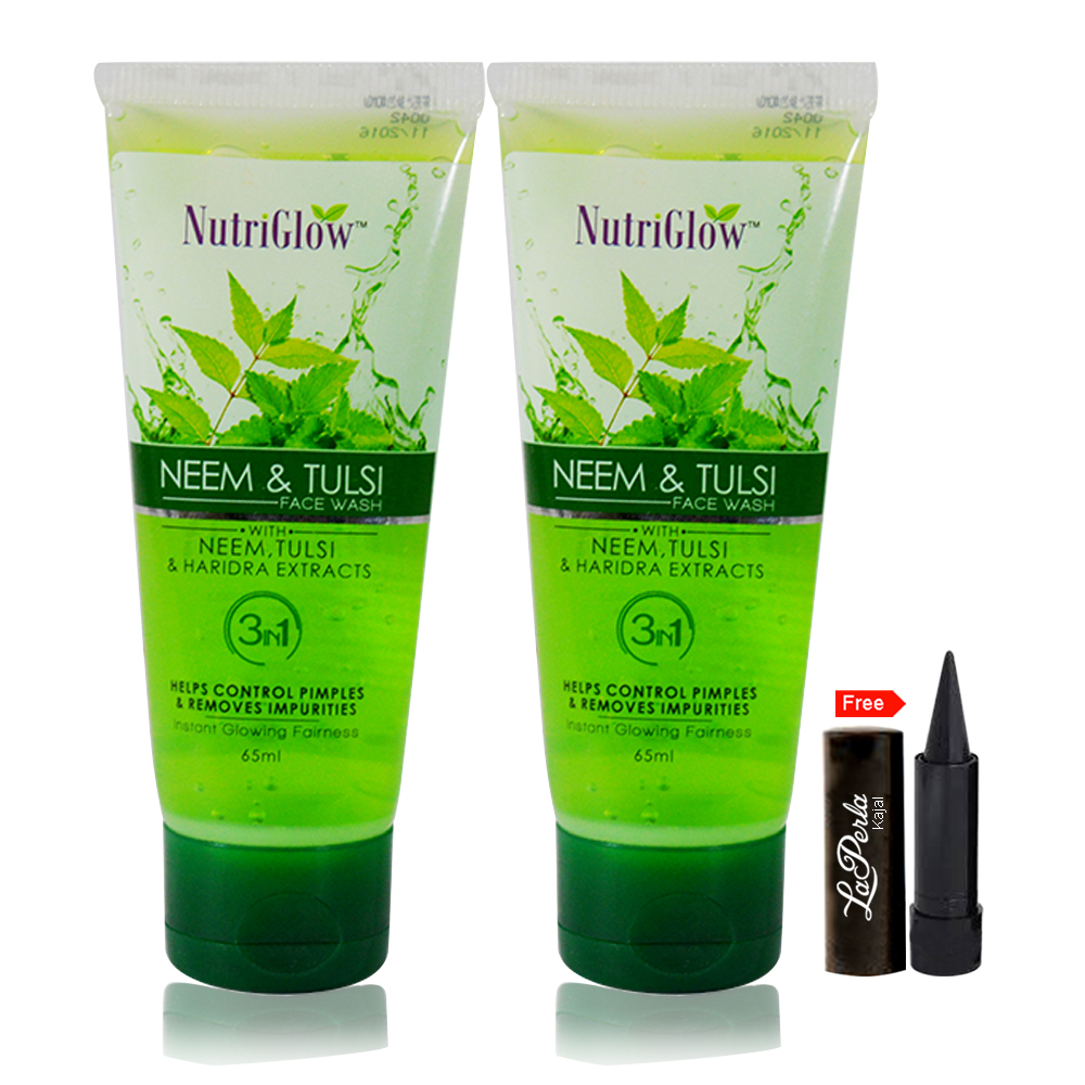 Nutriglow Neem Tulsi Face Wash  Pack Of 2
