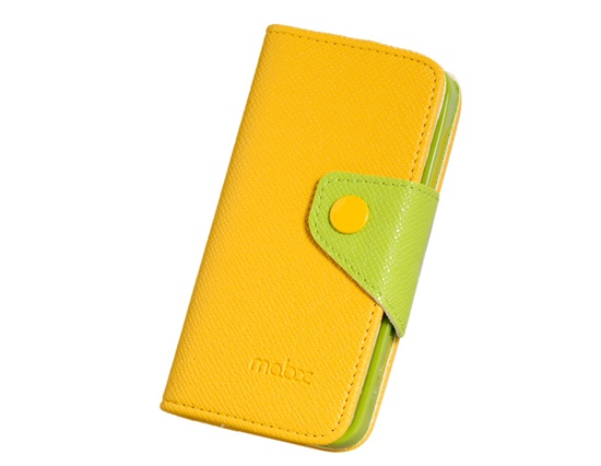 Yellow and lime Leather Flip case cover for Apple iPhone 5/5s