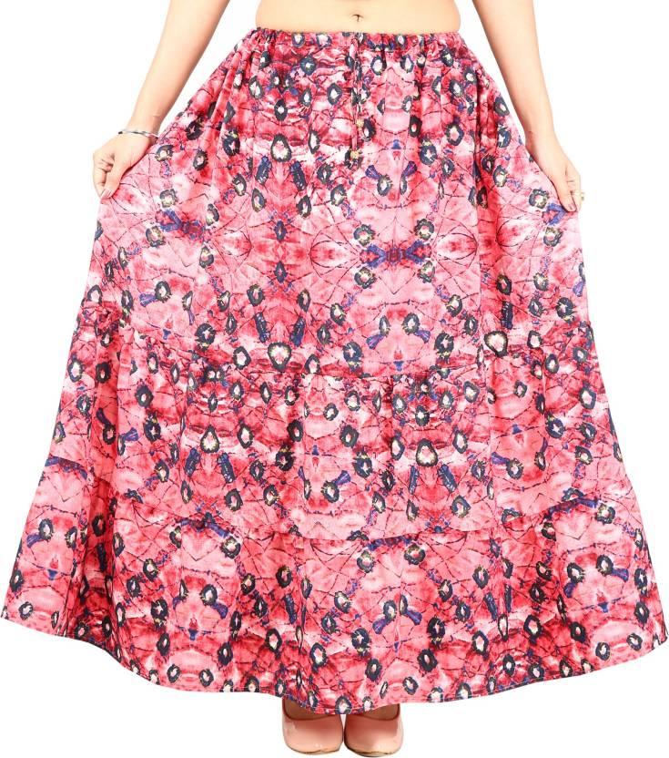 jaipuri collection Printed Women's Regular Pink Skirt