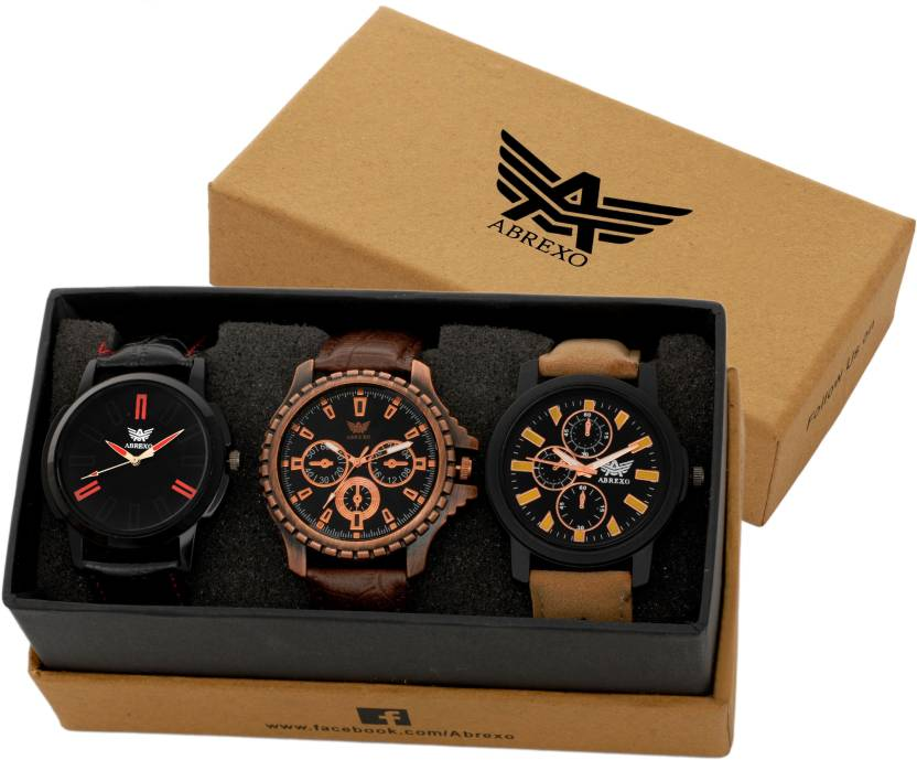 Abrexo LuxeryLifeStyles Abx 8668 BLK BR Analog Watch   For Boys