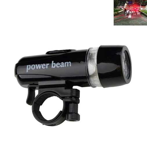 Futaba Bicycle Rear Light and 5 LED Power Beam Front Head Light   Red