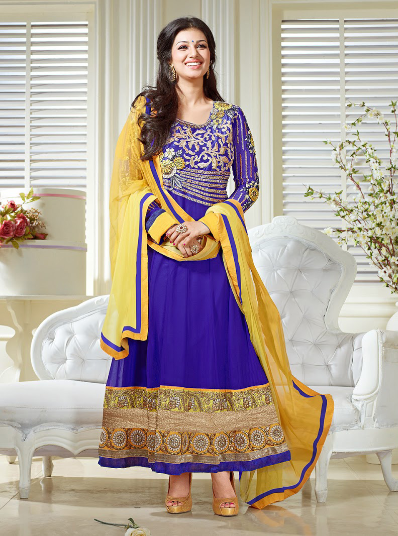 f842f05aa6 New Collection By Ayesha Takia In Blue Designer Anarkali Suit Best ...