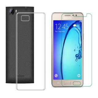 Soft Transparent Back Cover with 25HD Tempered Glass for Samsung Galaxy S6 Edge