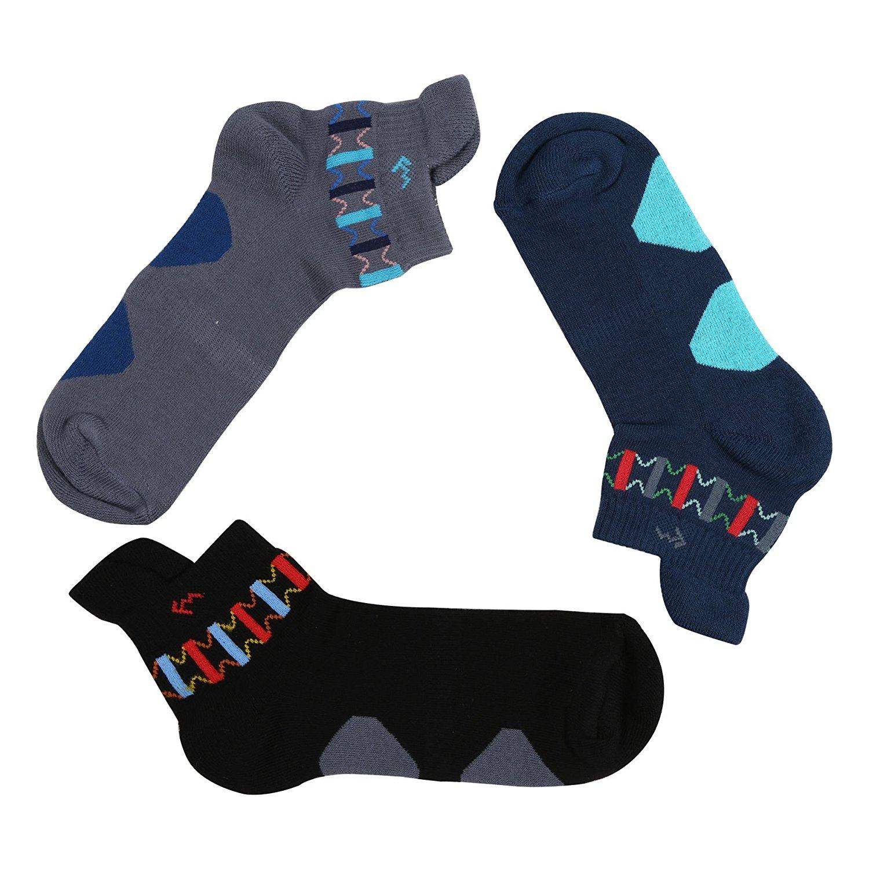 Men Sports Ankle Length Socks  3 Pair Pack