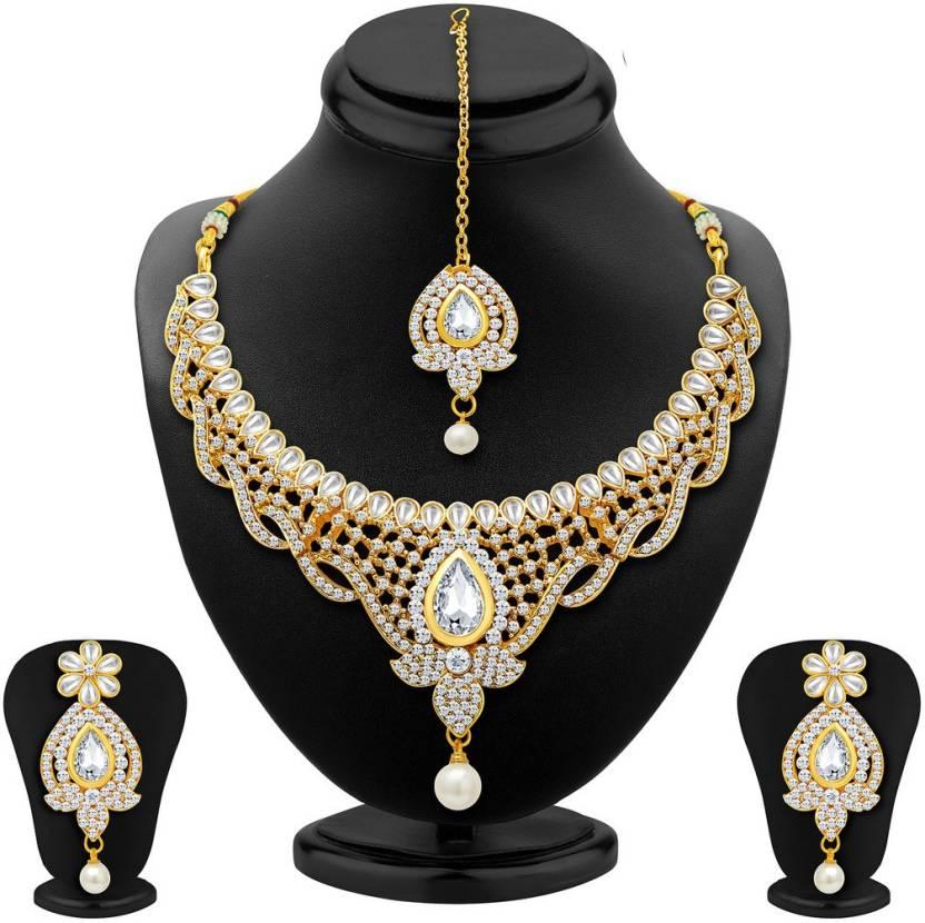 Sukkhi Aloy Gold Jewel Set  Gold
