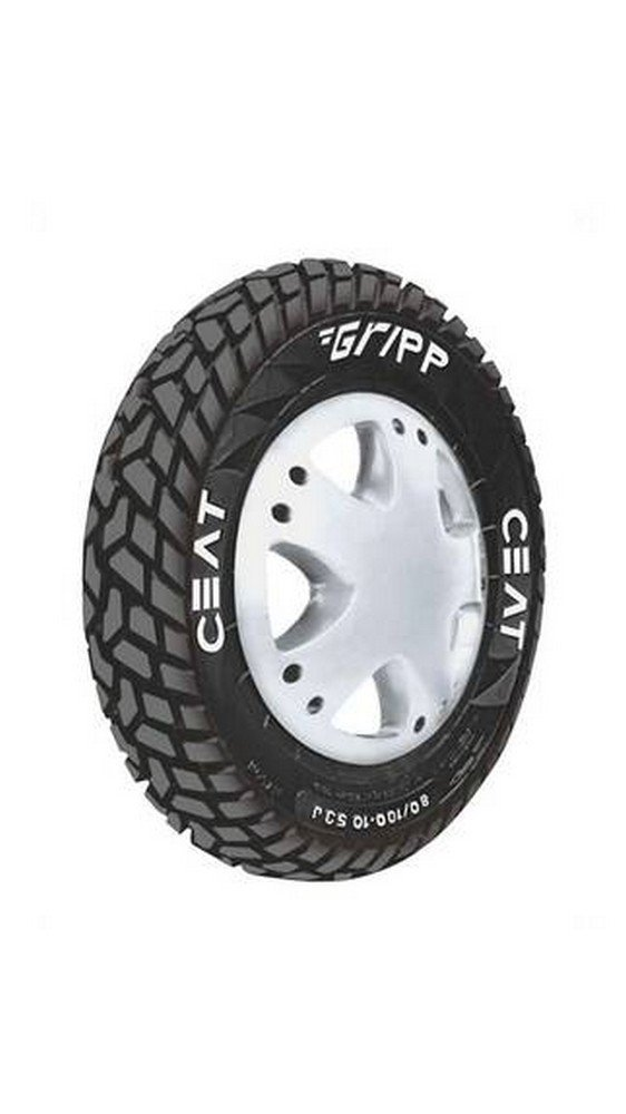 Roll over image to zoom in Ceat Ceat Gripp P90/100 - 10 Tube-Type Scooter Tyre, Rear