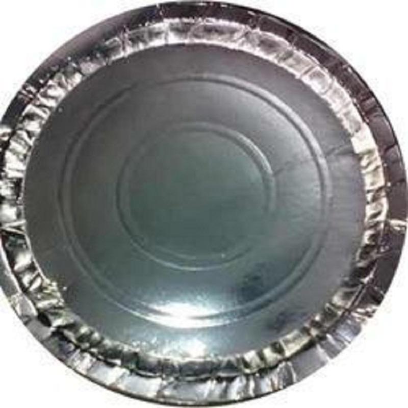 Silver paper plates 5 no.