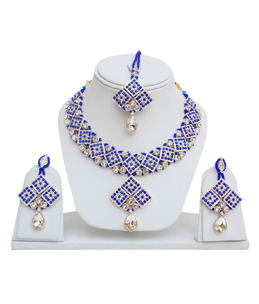 Styylo Fashion Exclusive Blue Necklace Set.