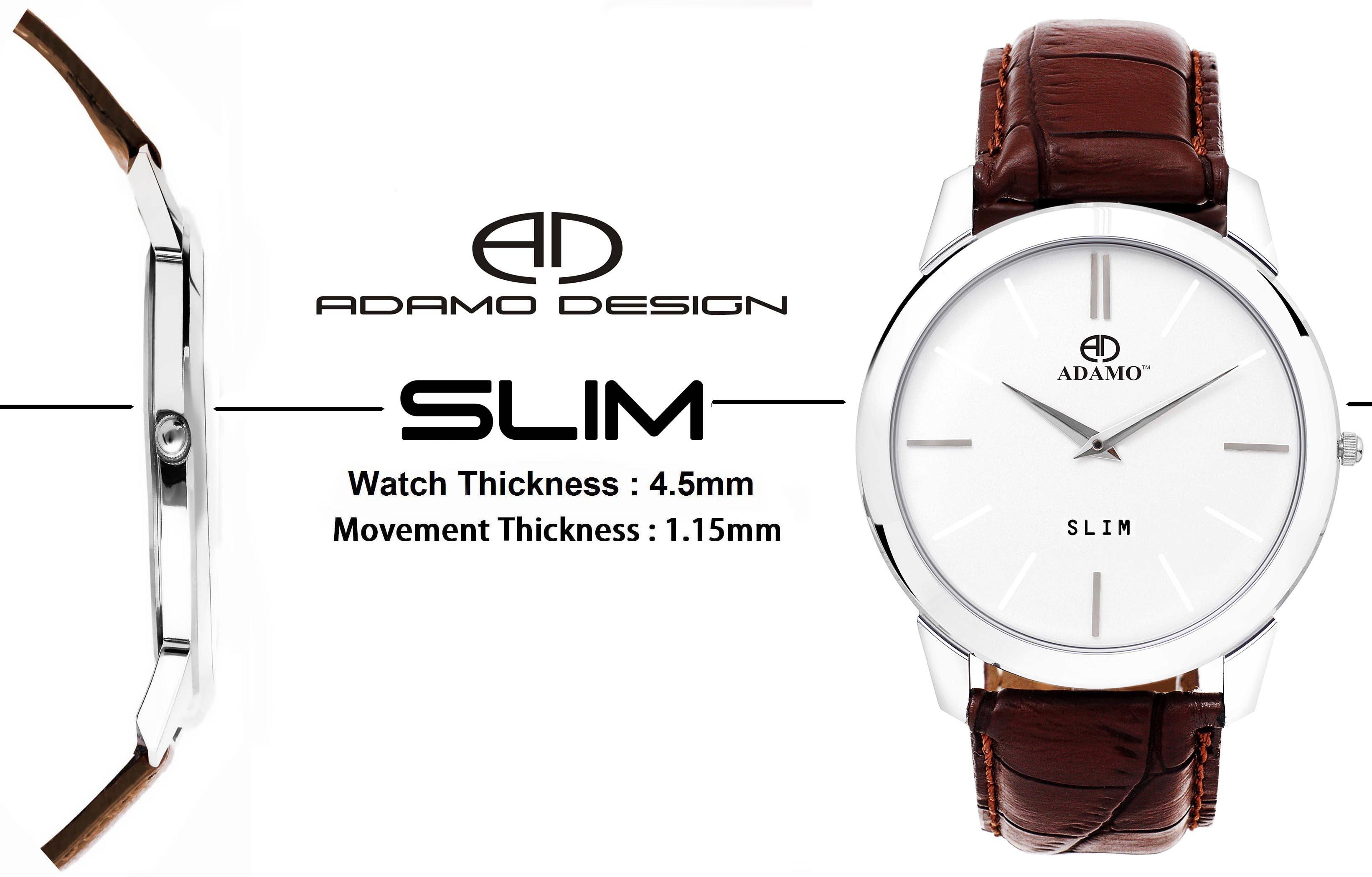 ADAMO Men Analogue White Dial Watch  AD64BR01