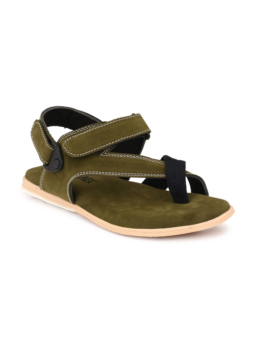 45f7e91b06ad Afrojack Men Olive Velcro Sandals. Buy Alberto Torresi Goro Brown Boots  online at best price in India ...