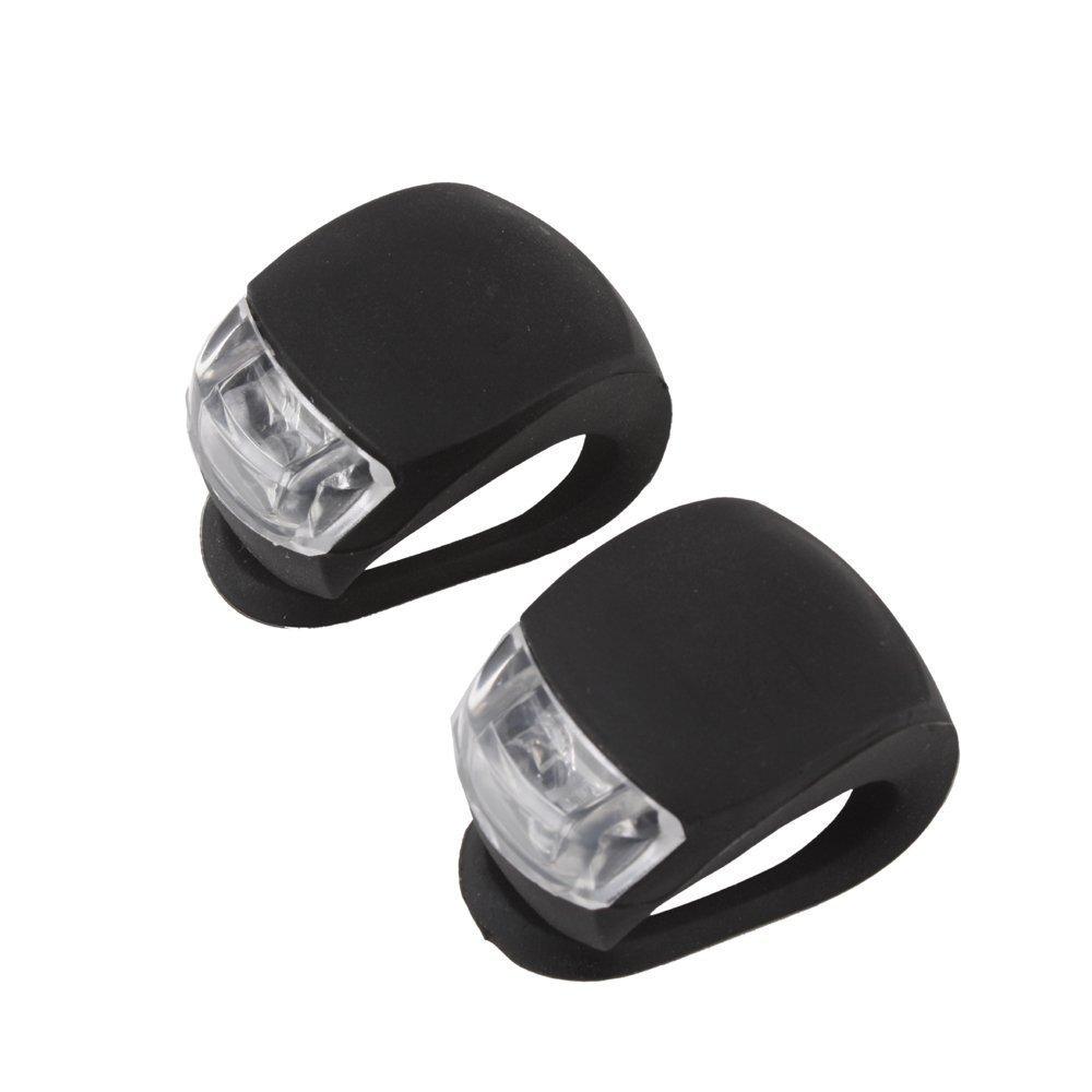 M10027 Black Waterproof Super Frog White LED Bicycle bike Head Light Headlamp Headlight Different Modes 2PCS
