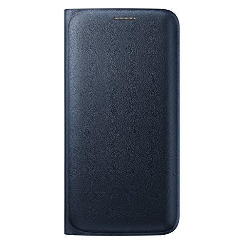 Samsung Flip Wallet PU Cover for Galaxy S6 Edge  Black