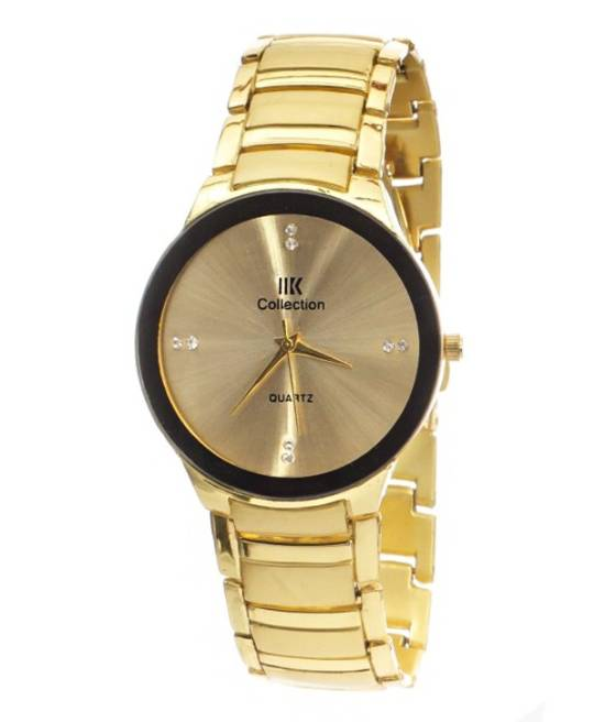 i DIVAS New Iik Collection IIK 034M Luxury Gold Round Shaped Analog Watch   For Men Fast Shipping By kayra Fashion