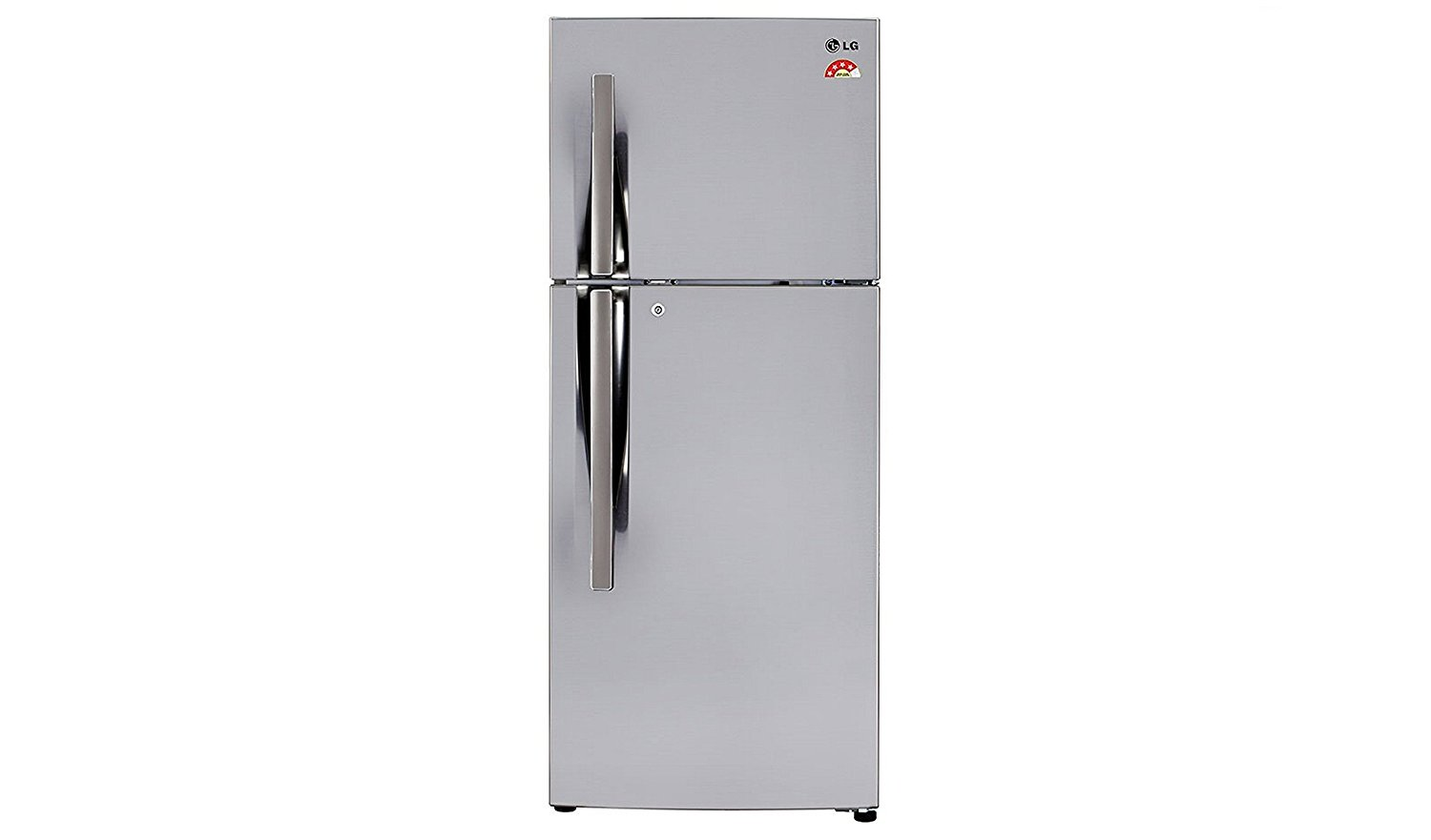 LG GL I292RPZL 260 Litres Double Door Frost Free Refrigerator  Silver