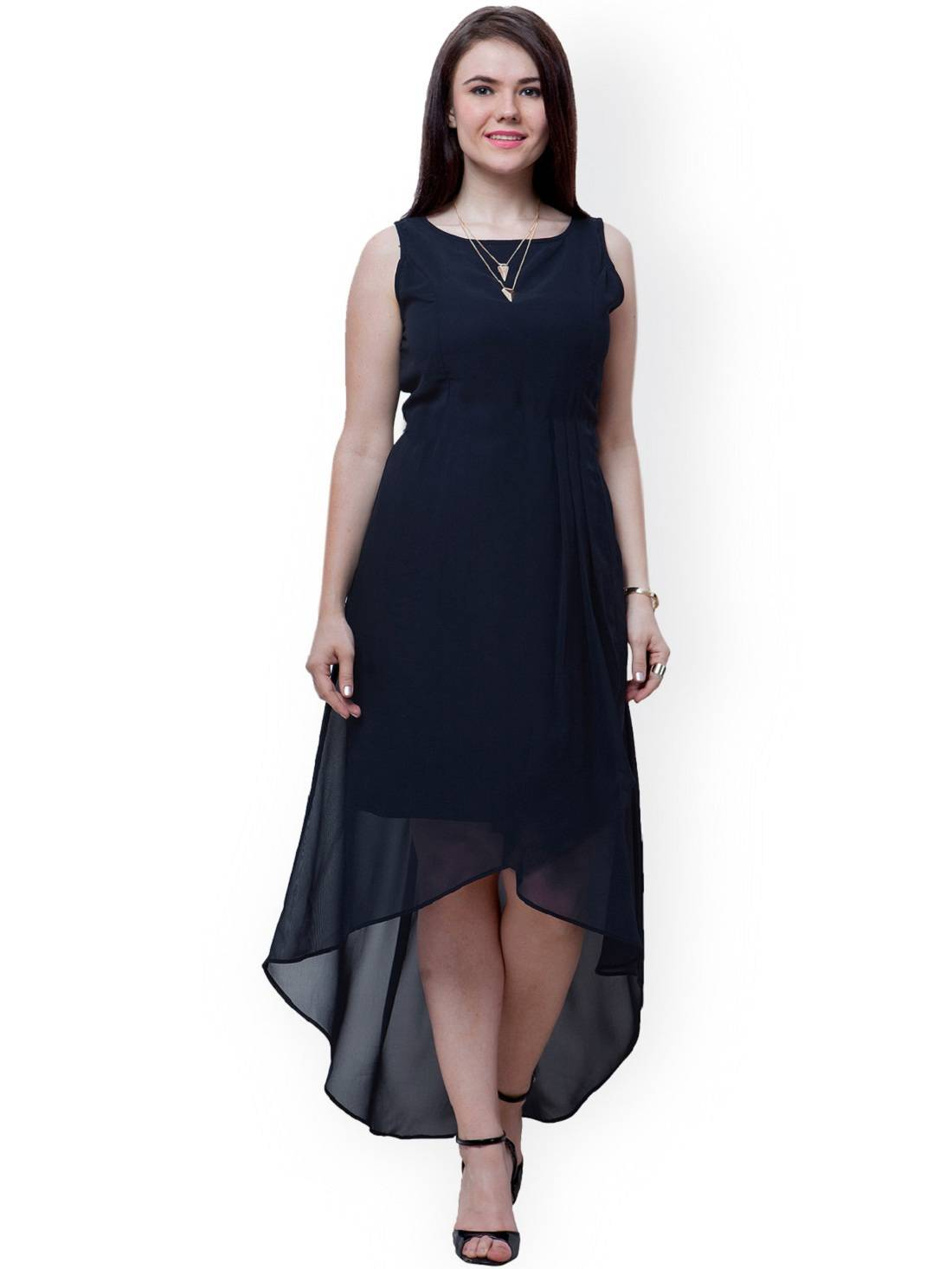 Indicot Black Georgette High Low Asymmetric Women Party Wear Long Plain One  Piece Dress. Buy Alberto Torresi Goro Brown Boots online ... 36fd17734