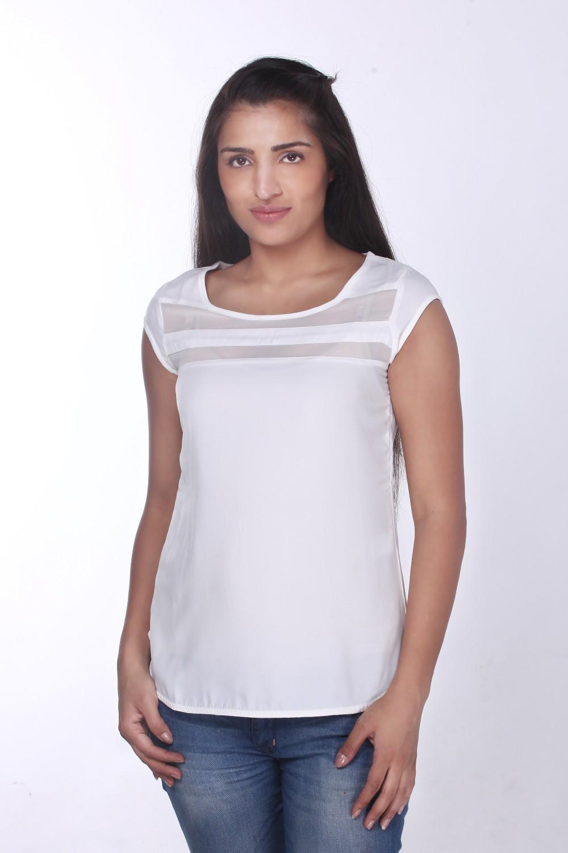White Cap Sleeve Top