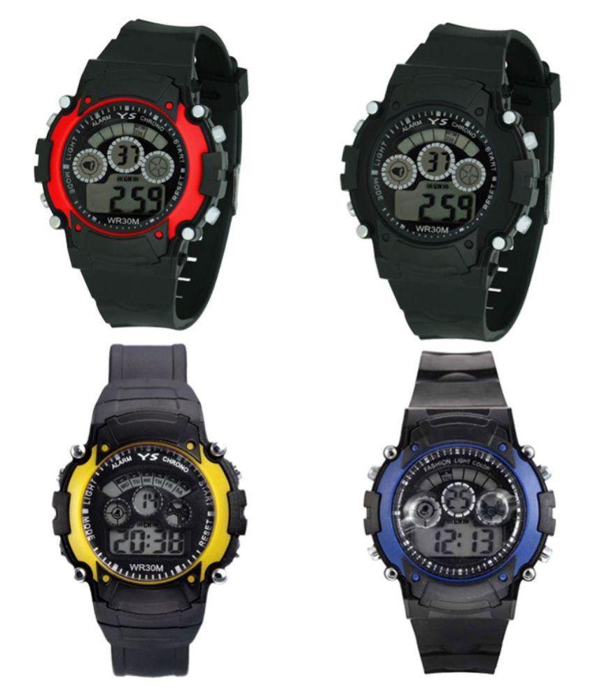 Sports Set of 4New Collection 7light Digital Wrist Watch   For Boys, 7L4RBYBl