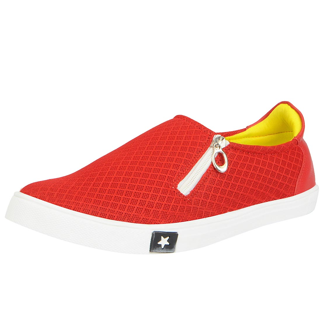 Fausto Men Red Lace Up Casual Shoes