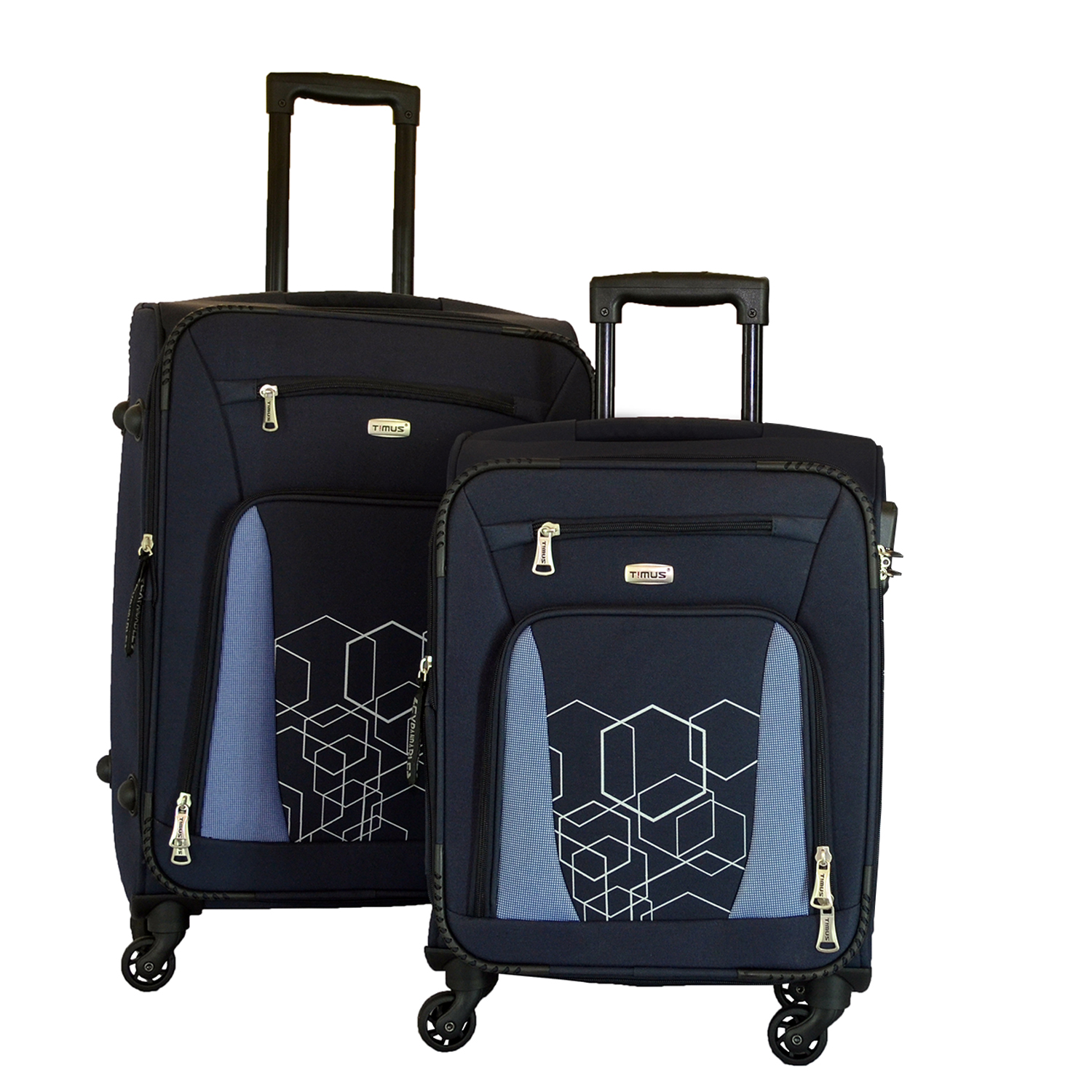 Timus Morocco Spinner 55 65cm 4 Wheel Trolley Suitcase Travel Luggage Expandable Cabin and Check in Luggage  Blue