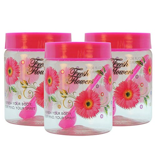 GPET Print Magic Container 1000 ml Pink  Pack of 3