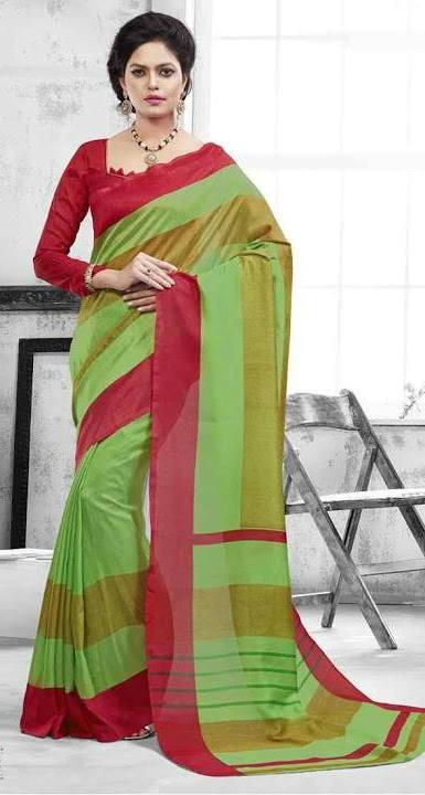 Moni Fashions Womens Printed Bhagalpuri Art Silk Saree