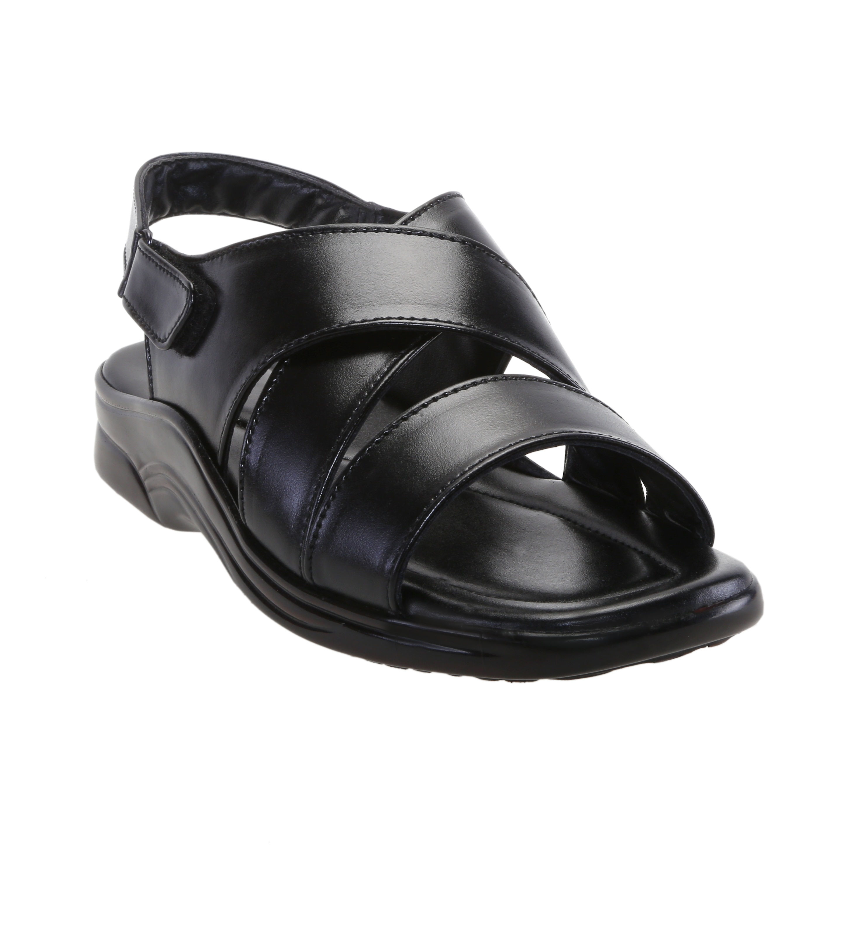 Zappy Men's Black Buckle Sandals at shopclues