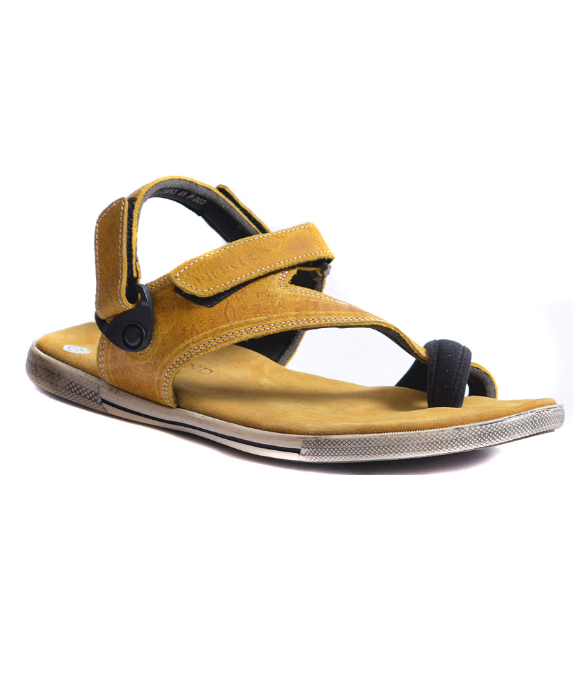 1e6b7c482 Woodland Gold Colour Leather Sandals Best Deals With Price ...