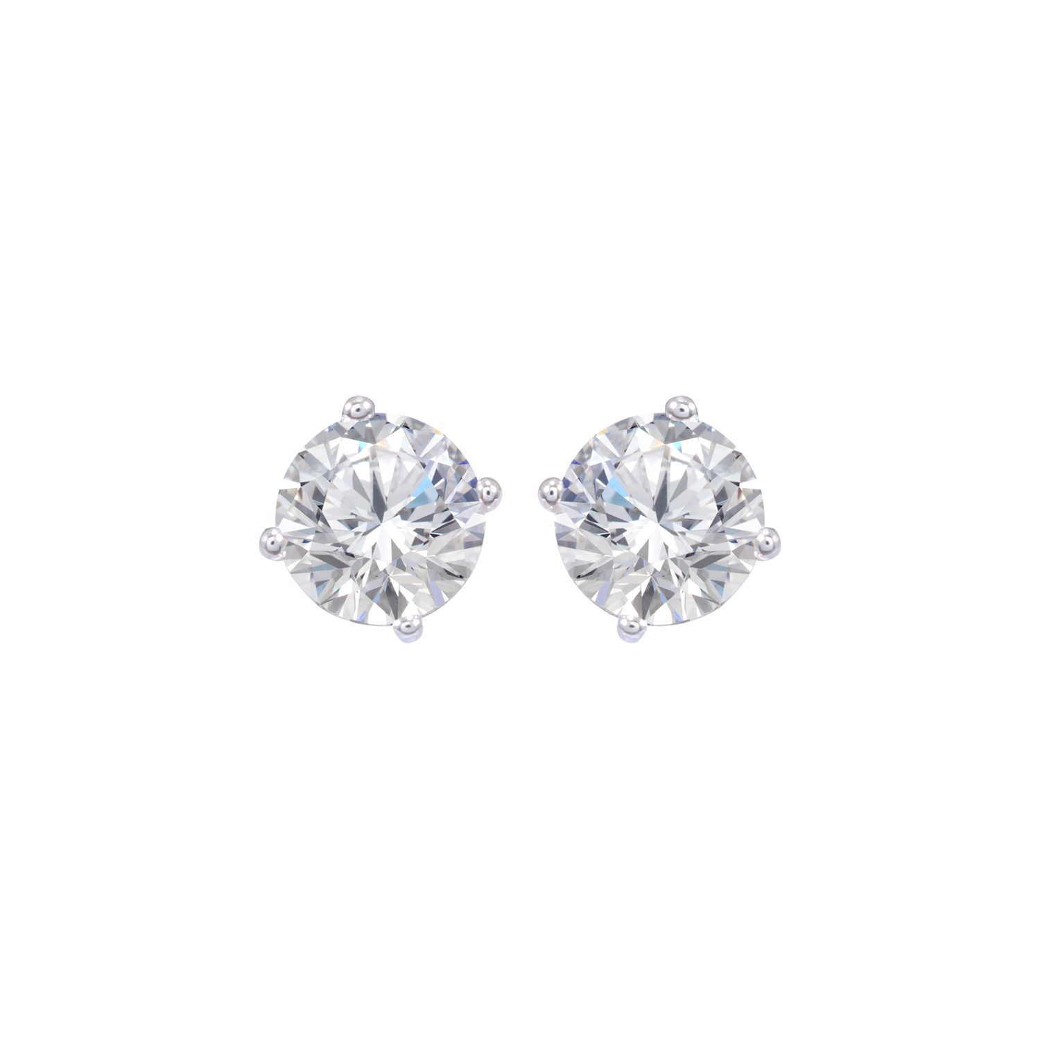 Sparkle Jewels Cubic Zirconia AAA Round Earring for Women