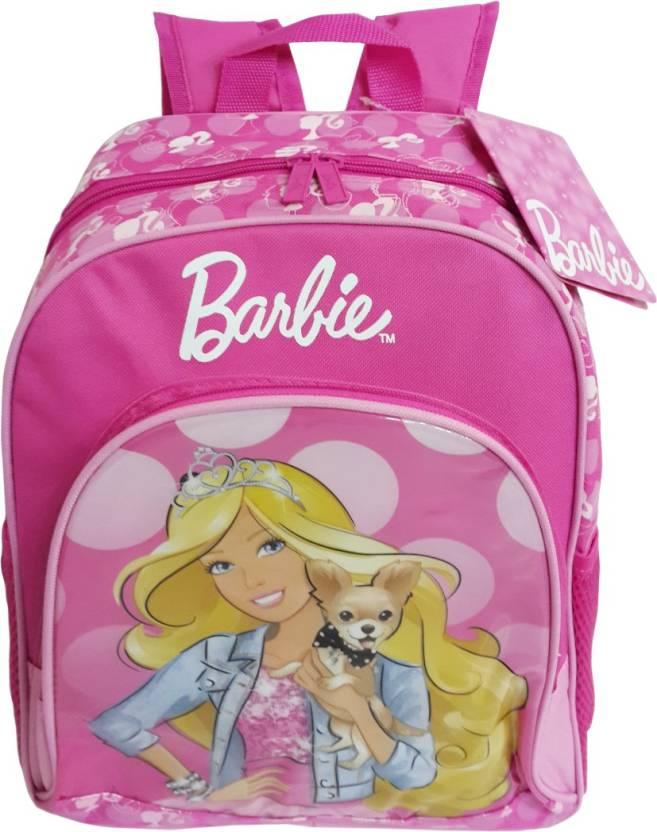 Barbie Pink Bag School Bag  Pink, 14 inch