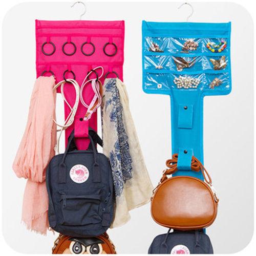 Jewellery/Bag Accessories Organizer Wall Hanging Dress Shape 2 Sided