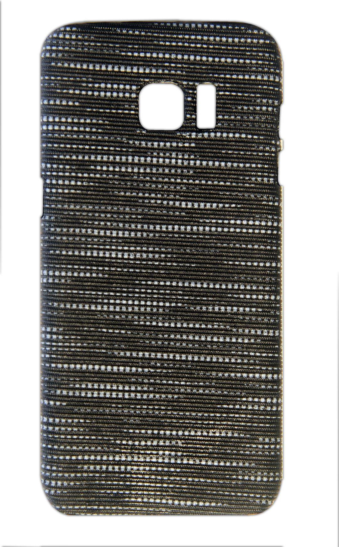 Samsung S7 Edge Designer Back CoverBlack   White
