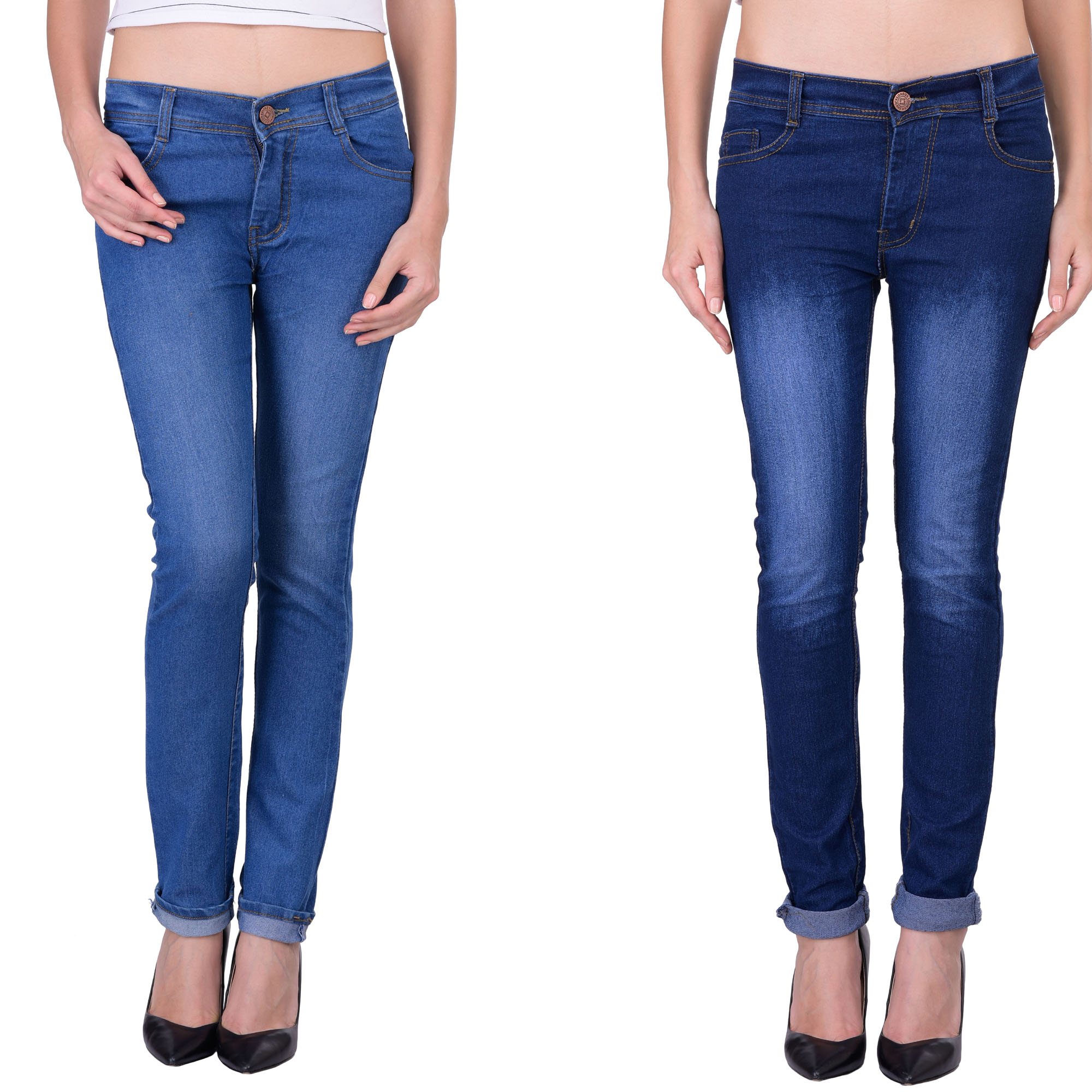 Balino London Dark Blue, Light Blue Jeans For Women
