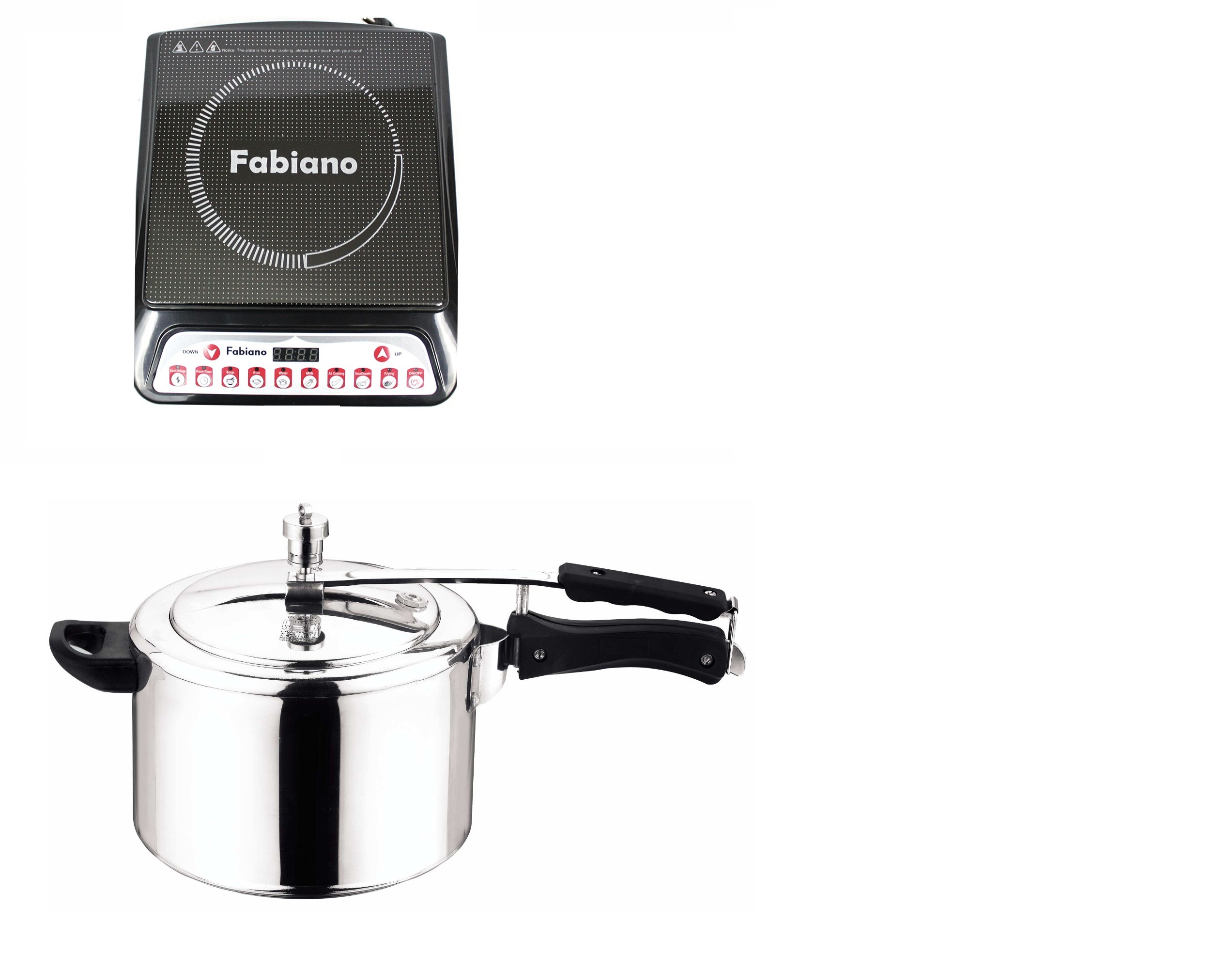 Fabiano Kitchen Classic Combo Induction Cooktop with Induction Base Inner Lid 5ltr. Pressure Cooker at shopclues