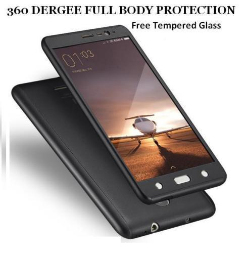 Redmi Note 4 Back Cover 360 DEGREE PROTECTION FRONT+BACK COVER CASE Black