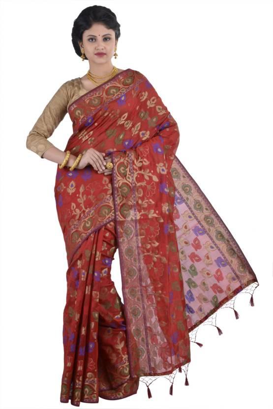 Aishika Floral Print Fashion Silk Cotton Blend Saree  Multicolor