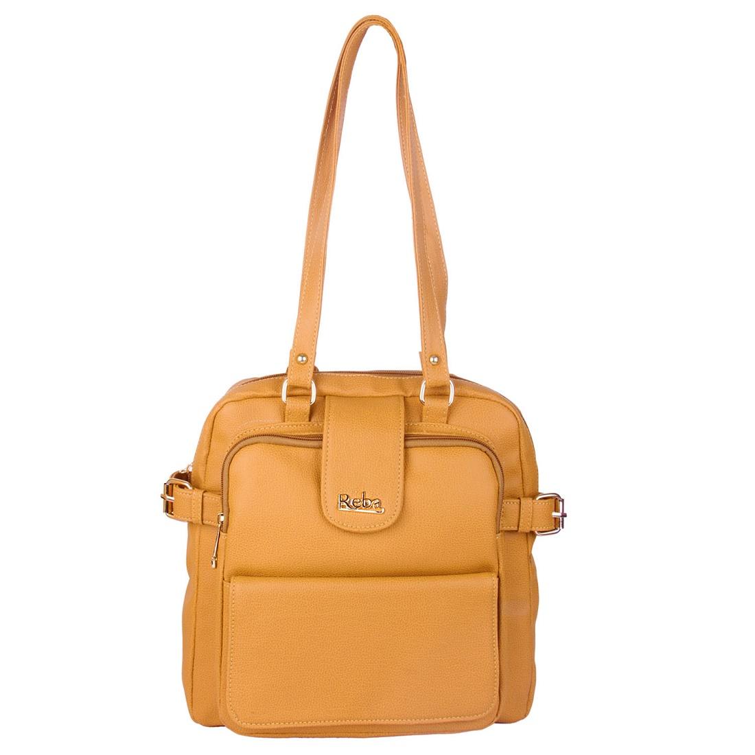 Reba beautiful backpack bag for women   L BROWN