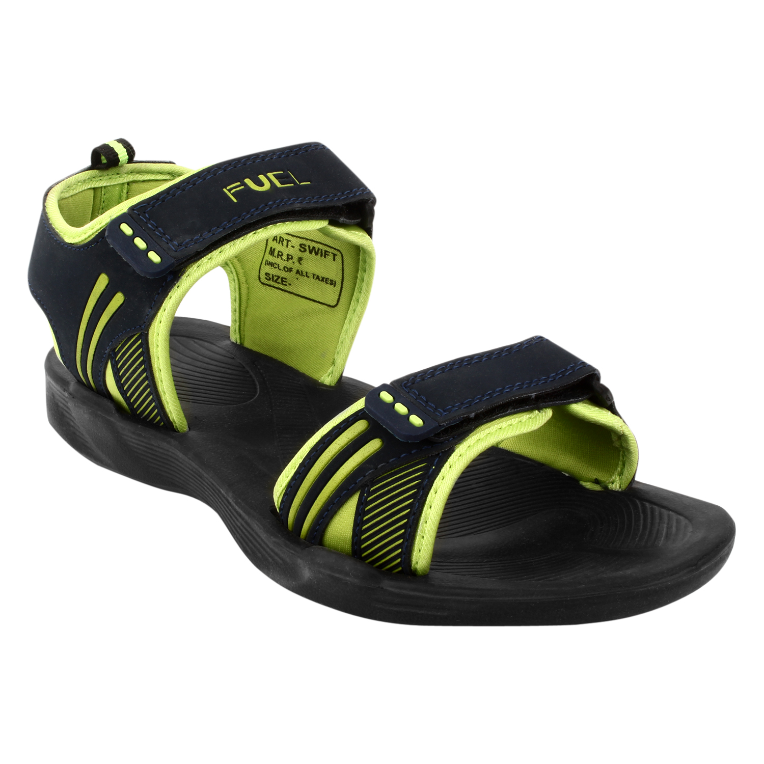 d5425c5f4dd92a Fuel Mens Navy Green Velcro Floaters