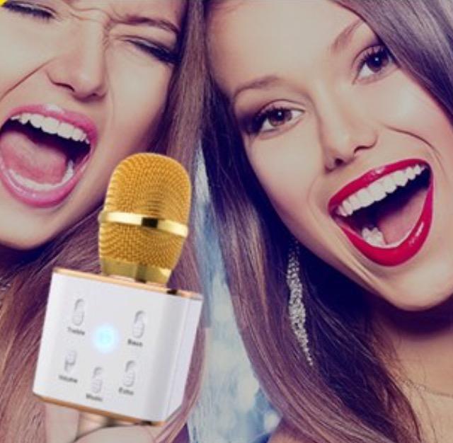 karoke mic with built in bluetooth speaker