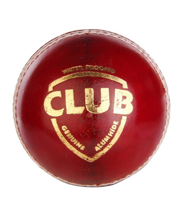 dixon dd Club Cricket Ball 100 pure lather   Size Regular  Pack of 1, Red