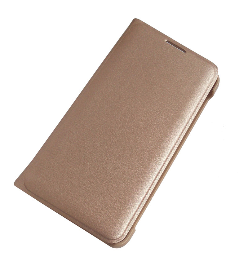 Samsung Galaxy A9 Pro Premium Quality Golden Leather Flip Cover