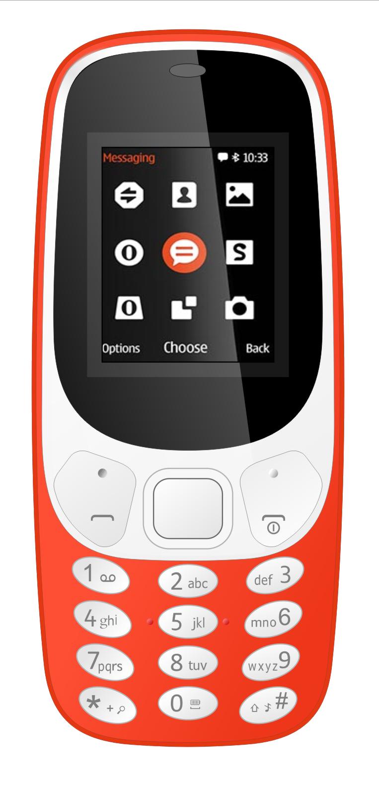Ikall K3310 1.8 inches  4.57 cm  Dual Sim Mobile Phone