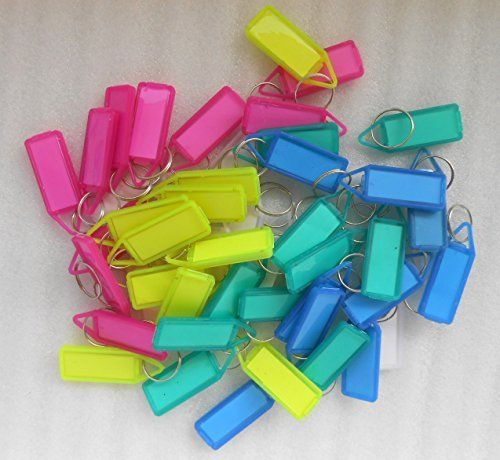 50Pcs Double Sided Multi Color Key Chain