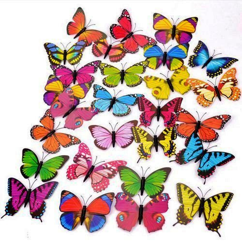 Butterfly Magnet Plastic 3 D Creative Fridge Stickers, Butterfly Pattern