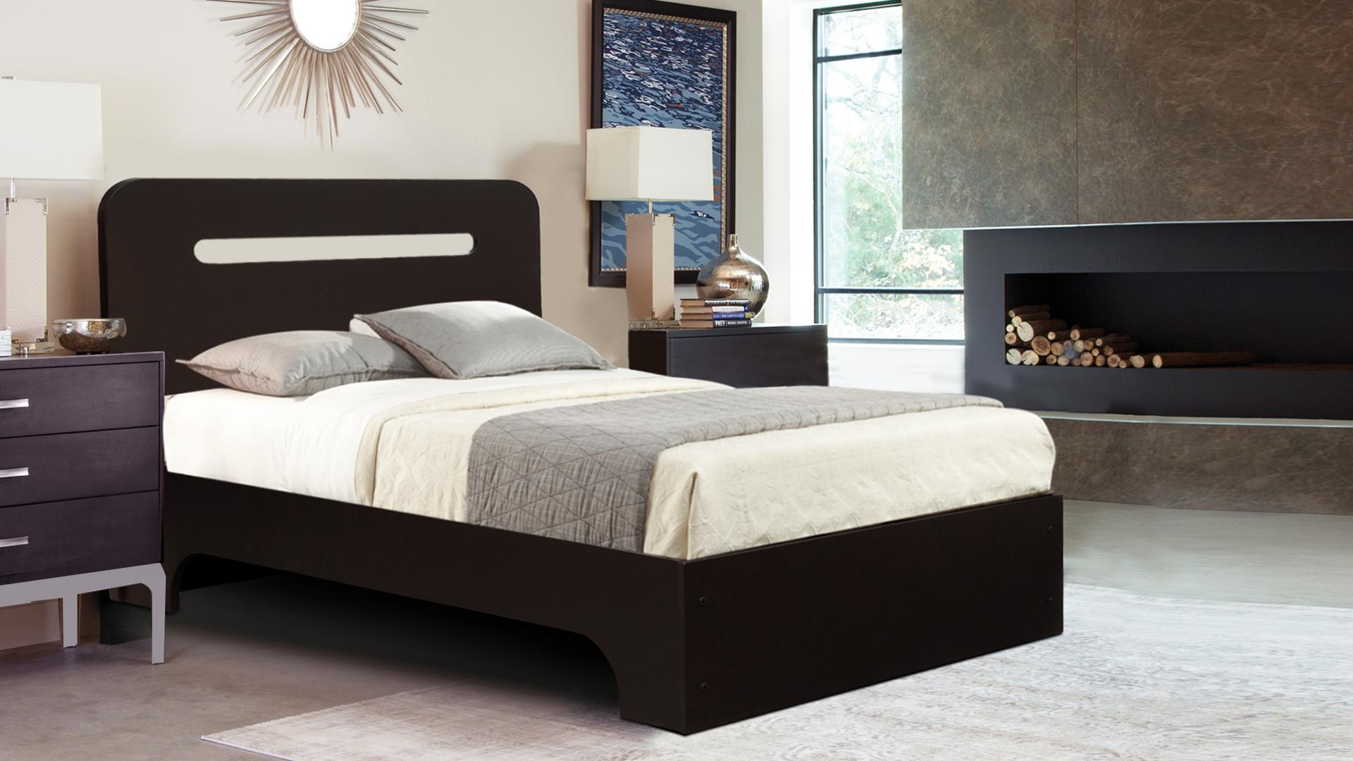 Auspicious Home Boston Single bed in Matte Finish