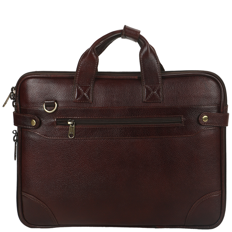 Leather Giant   100% Pure Genuine Leather Laptop Messenger Bag