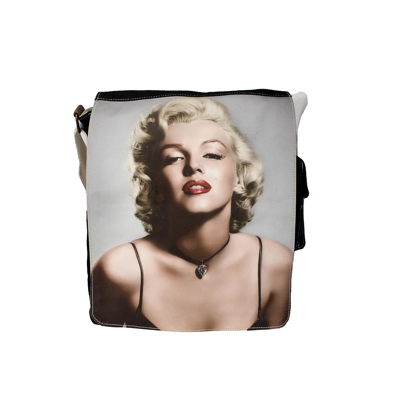 Unisex Marilyn Monroe B/W sling bag